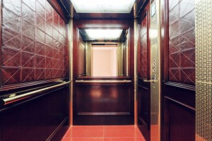 یک کابین آسانسور ام دی اف شیک