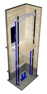 آسانسور هیدرولیک بدون چاهک
